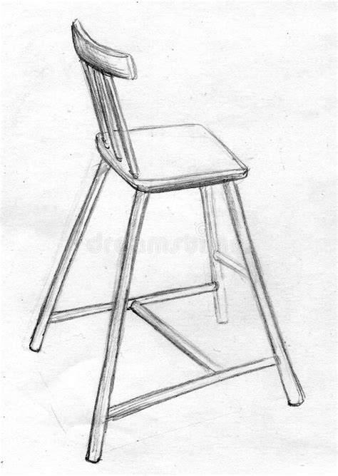 Pencil Sketches Of Chairs Sketch by Chair Pencil Sketch Stock Illustration Image