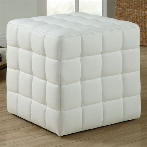 white leather cube ottoman rammstein cube ottoman square tufts white dcg stores