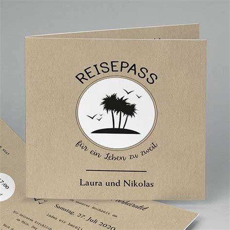 Hochzeitseinladung Reise by Hochzeitseinladungen Modern Reisepass Ins Gl 252 Ck