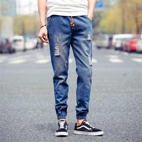 Kemeja Denim Boy summer style 2015 mens fashion ripped