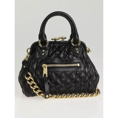 Marc The Kid Elastic Quilted Frame Bag marc black elastic quilted leather the kid stam