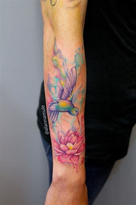 watercolor paint style alanna mule adrenaline tattoo