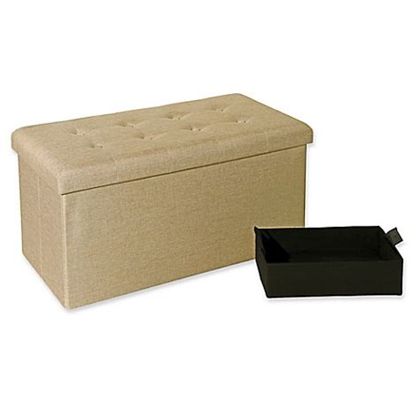 seville classics foldable storage bench ottoman buy seville classics foldable storage bench ottoman in