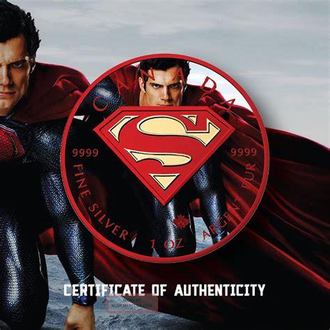 Kaos Black Silver Superman 1 2016 1 oz ounce silver superman 9999 24k gold gilded colorized coin