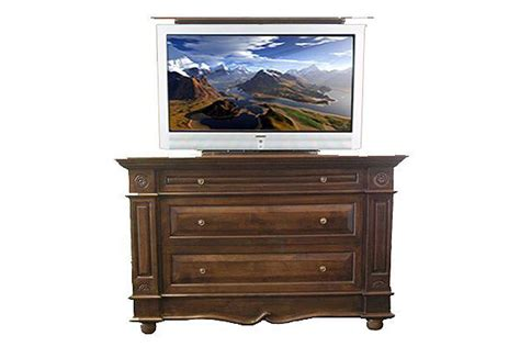 bedroom tv cabinet hidden tv lift cabinet with dresser andaluz hidden tv lift cabinet