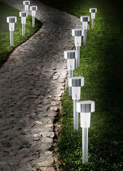 wegbeleuchtung led set solar steckleuchten 10er set gartenbeleuchtung