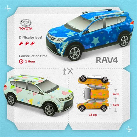 Toyota Papercraft - want a free toyota rav4 prius or gt86 autos ca