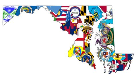 maryland flag map maryland counties flag map oc 1134x673 x post from r