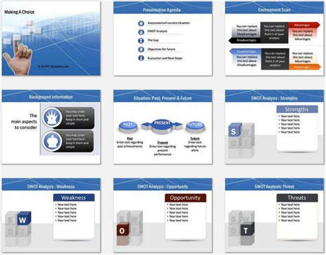Powerpoint Making Choice Template Choice Template Powerpoint