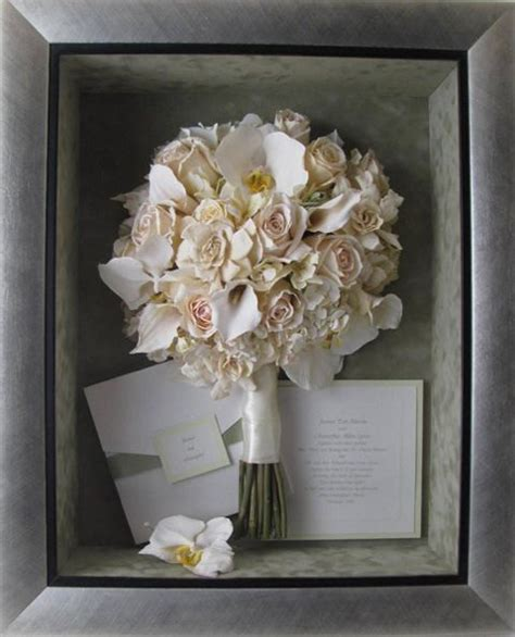 Wedding Bouquet Box Frame by Re Purpose Your Wedding Bridal Bouquet In Shadow Box Or