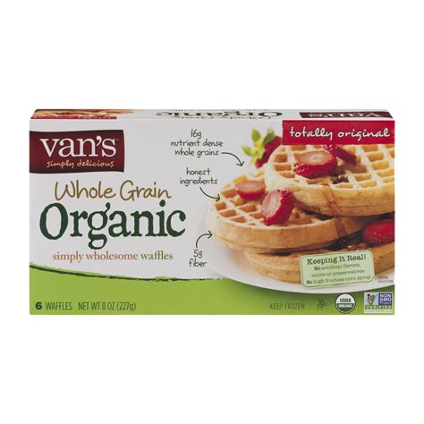 vans 8 whole grains waffles s organic whole grain waffles 8oz box garden grocer