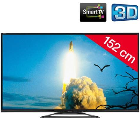 Tv Sharp Carrefour tv led 3d carrefour achat sharp aquos lc 60le651emk2 pas cher noir t 233 l 233 viseur led 3d smart