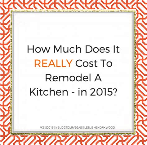how much does it cost to remodel a kitchen in 2015