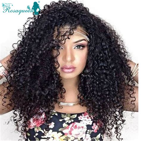 kinky curly human hair full lace front wigs brazilian kinky curly virgin hair full lace human hair