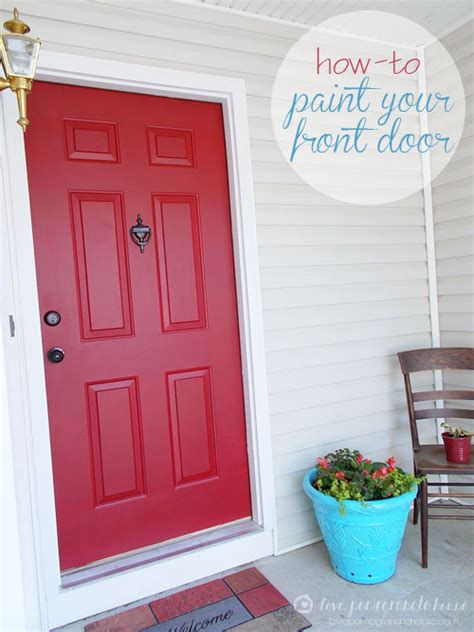 how to paint the front door how to paint your front door love pomegranate house