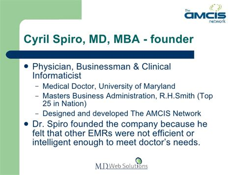 Importance Of Md Mba by The Amcis Network Emr