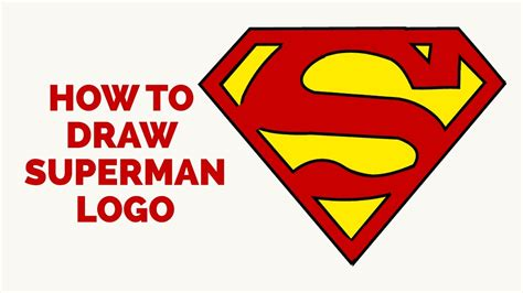 tutorial logo superman how to draw a superman logo in a few easy steps drawing