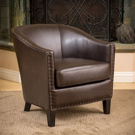 faux leather club chair shop best selling home decor brown faux leather