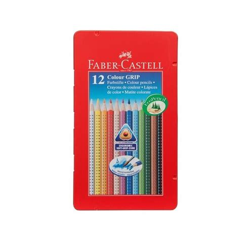 Watercolour Pencils Faber Castell 12 colour grip watercolour pencils tin of 12 faber castell learning collection from craftyarts co