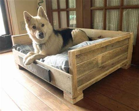 dog bed made out of pallets wood desk chair plans how to make a wooden dog bed with sides