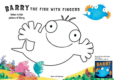 Barry the Fish with Fingers Colouring   Scholastic Kids' Club