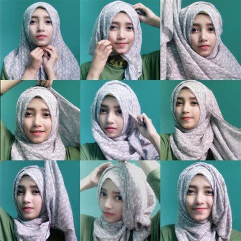tutorial segi empat double tutorial hijab modern paris double model hijab terbaru
