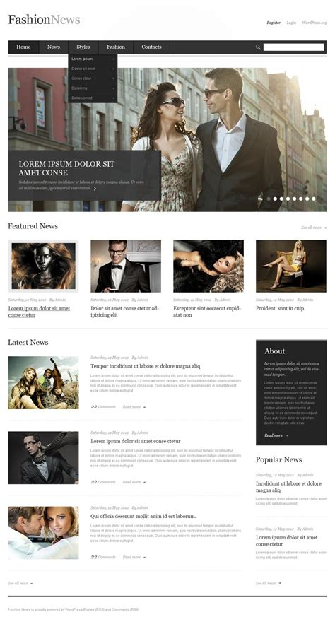 10 wordpress themes for your fashion business idea wp