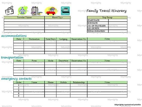 vacation template vacation itinerary template 7 free documents