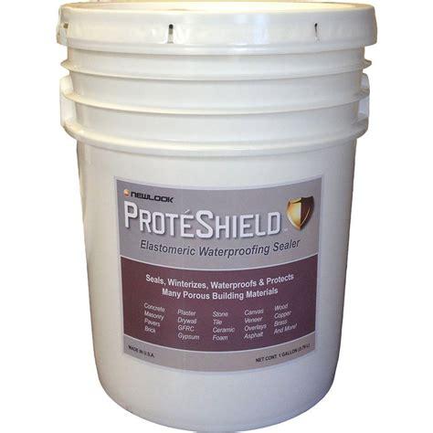 home depot paint on rubber proteshield 5 gal elastomeric waterproof sealer pshld5g