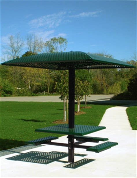 belson outdoors picnic tables single pedestal picnic table with sun shelter belson