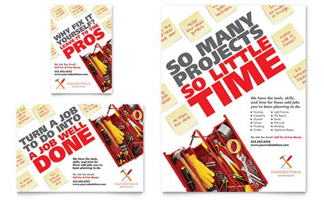 free handyman flyer template handyman services flyer ad template design