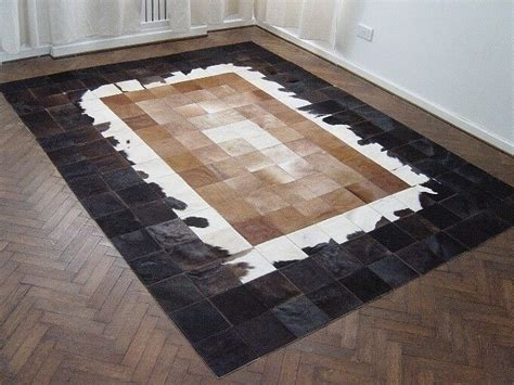 patchwork cowhide leather rugs new cowhide patchwork rug leather carpet cu 438 ebay