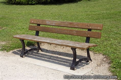 definition of benched bench photo picture definition at photo dictionary