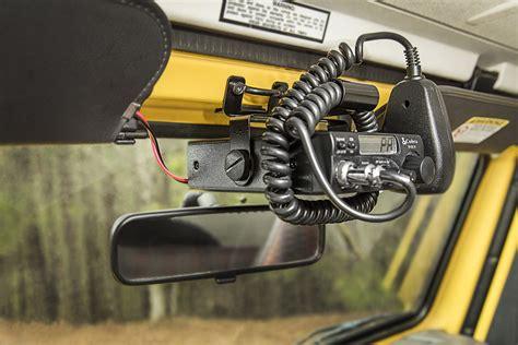 Jeep Cb Mounts Rugged Ridge 13551 08 Cb Radio Windshield Mount For 97 02