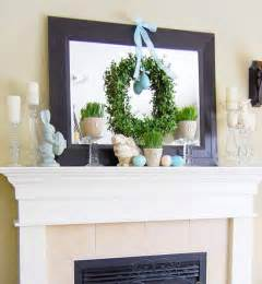 The same principles are applied in this mantel below with the black