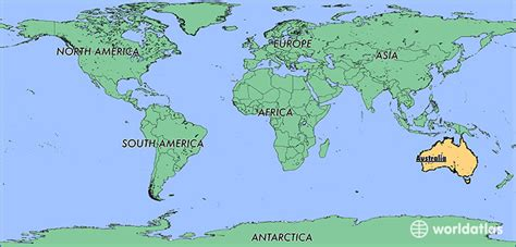 australia in world map where is australia where is australia located in the
