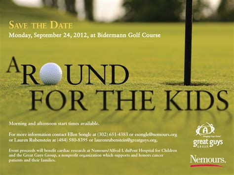 Round For The Kids Golf Outing Save The Date Golf Matters Pinterest Kids Golf Golf And Fundraiser Save The Date Templates
