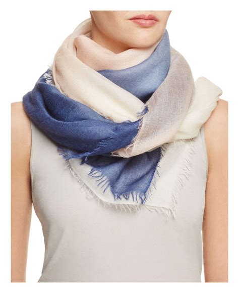 Zenith By Azurra Scraf lyst carr the wave carr 233 wool scarf in blue