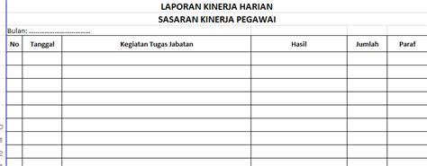 format buku harian pegawai contoh format laporan harian proyek contoh l