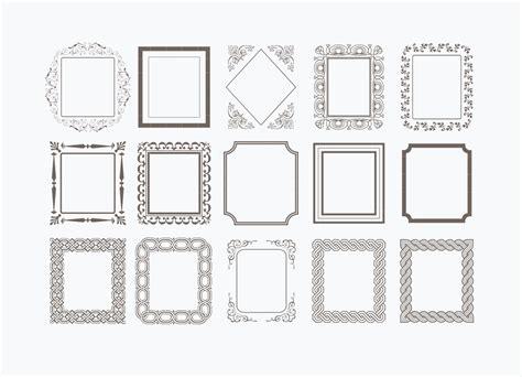 decorative vector frames   vector art stock