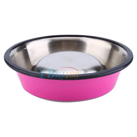 Pet Mangkok Wetnoz Stanles Small pets small puppy anti skid stainless steel feeding