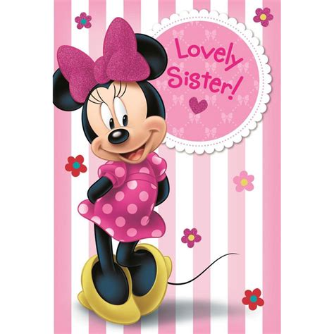 Minnie Mouse Photo Birthday Cards