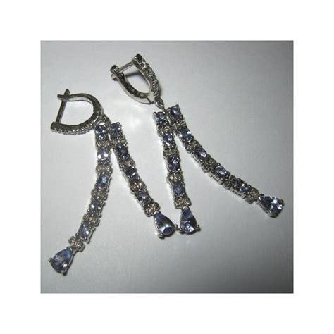 Anting Silver Lapis Emas Putih Hoop Batu Berlian Daun Elegan Be073s jual anting permata tanzanite asli 4 1 carat silver 925