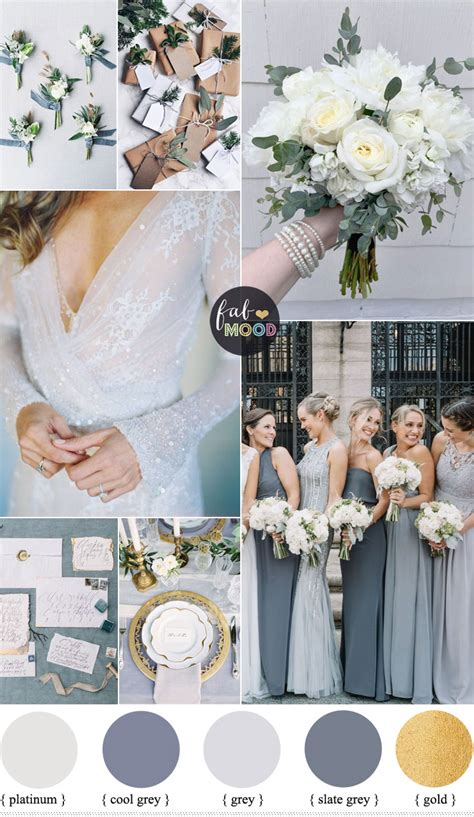 colour themes for a winter wedding shades of grey winter wedding color palette winter