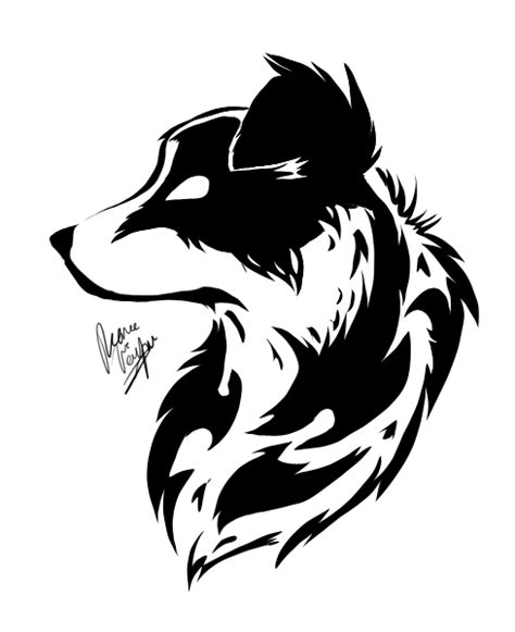 traditional tattoo wolfhat wolf border border collie by cross hearts on deviantart