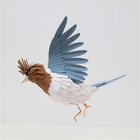 paper bird sculpture realistic bird paper sculptures by diana beltran herrera