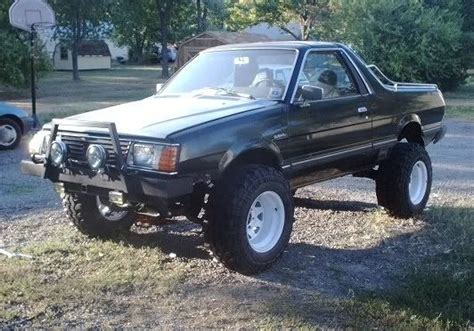 brat subaru lifted jacked up subaru brat google search rides pinterest