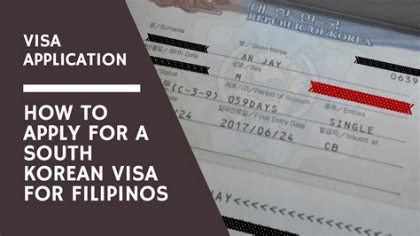 visa application how to apply for a south korean visa for filipino tourists