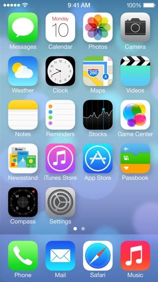 ios 7 feature redesigned home screen