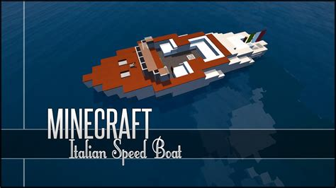 how to make a speed boat in minecraft pe minecraft vehicle tutorial italian speed boat youtube